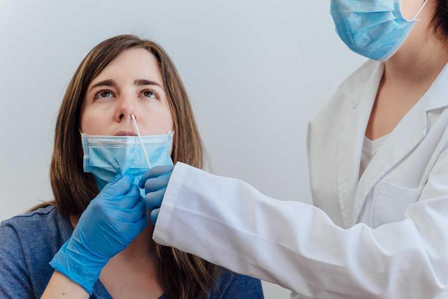 Test antigénique pour patiente avec symptômes